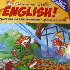 Libros de segunda mano: GERONIMO STILTON ENGLISH CON CD TAPA DURA PLAYING IN THE GARDEN JUGAMOS EN EL JARDIN. Lote 237537960