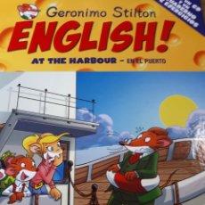 Libros de segunda mano: GERONIMO STILTON ENGLISH CON CD TAPA DURA AT THE HARBOUR EN EL PUERTO. Lote 237538385