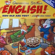 Libros de segunda mano: GERONIMO STILTON ENGLISH CON CD TAPA DURA HOW OLD ARE YOU ? CUANTOS AÑOS TIENES ?. Lote 237539135