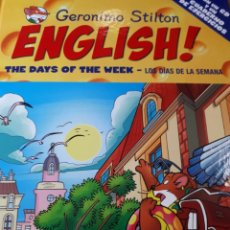 Libros de segunda mano: GERONIMO STILTON ENGLISH CON CD TAPA DURA THE DAYS OF THE WEEK LOS DIAS DE LA SEMANA. Lote 237539420