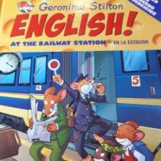Libros de segunda mano: GERONIMO STILTON ENGLISH CON CD TAPA DURA AT THE RAILWAY STATION EN LA ESTACION. Lote 237539665