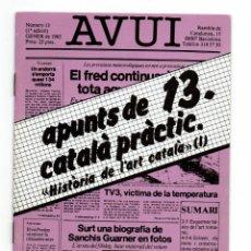 Libros de segunda mano: APUNTS DE CATALÀ PRÀCTIC / 13 / HISTÒRIA DE L'ART CATALÀ (I) DIARI AVUI 1985. Lote 240735850