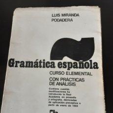 Libros de segunda mano: GRAMATICA ESPAÑOLA. CURSO ELEMENTAL CON PRACTICAS DE ANÁLISIS.. Lote 245188325