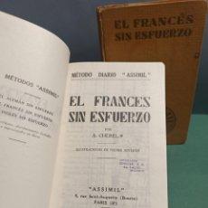 Libros de segunda mano: LOTE DE 2 LIBROS DE EL FRANCÉS SIN ESFUERZO ASSIMIL. Lote 246977225