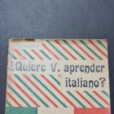Libros de segunda mano: QUIERE V. APRENDER ITALIANO? WILLEMANNS.. Lote 247076090