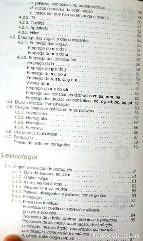 Libros de segunda mano: GRAMÁTICA DE PORTUGUÉS MODERNO - JOSÉ MANUEL DE CASTRO PINTO 2011 - VER INDICE - Foto 3 - 252596605