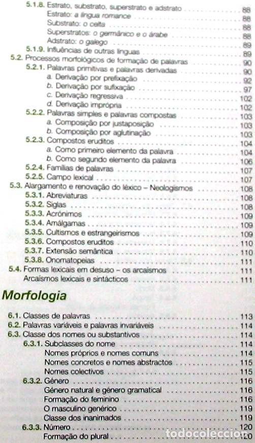 Libros de segunda mano: GRAMÁTICA DE PORTUGUÉS MODERNO - JOSÉ MANUEL DE CASTRO PINTO 2011 - VER INDICE - Foto 4 - 252596605