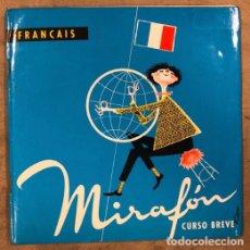 Libri di seconda mano: MIRAFÓN CURSO BREVE DE FRANCÉS - FRANÇAISE. INCLUYE 2 DISCOS VINILO. EDITORIAL HERDER 1973. Lote 175757235
