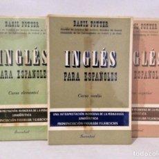 Libros de segunda mano: INGLÉS PARA ESPAÑOLES. BASIL POTTER. ELEMENTAL, MEDIO Y SUPERIOR. ED. JUVENTUD 1982.. Lote 139746154