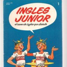 Libros de segunda mano: INGLÉS JUNIOR. FASCÍCULO Nº 1. SALVAT BBC. (ST/B7.1). Lote 263562275