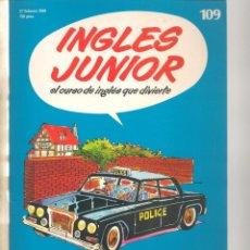Libros de segunda mano: INGLÉS JUNIOR. FASCÍCULO Nº 109. SALVAT BBC. (ST/P). Lote 263673555