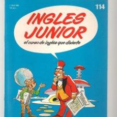 Libros de segunda mano: INGLÉS JUNIOR. FASCÍCULO Nº 114. SALVAT BBC. (ST/P). Lote 263674465