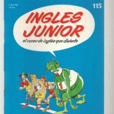 Libros de segunda mano: INGLÉS JUNIOR. FASCÍCULO Nº 115. SALVAT BBC. (ST/P). Lote 263674620