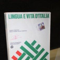 Livros em segunda mão: LINGUA E VITA D'ITALIA. CORSO INTENSIVO D'ITALIANO CON LE 2500 PAROLE PIÙ USATE E CON ELEMENTI DI. Lote 263933445