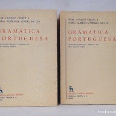 Libros de segunda mano: GRAMÁTICA PORTUGUESA, BIBLIOTECA ROMÁNICA HISPÁNICA, 9, MADRID, 3ª EDICIÓN CORREGIDA GREDOS, 1971.. Lote 268476244