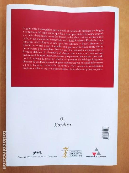 Libros de segunda mano: VOCABULARIO DE ARAGÓN / JUAN MONEVA Y PUYOL / 2004. XORDICA EDITORIAL - Foto 5 - 269295318