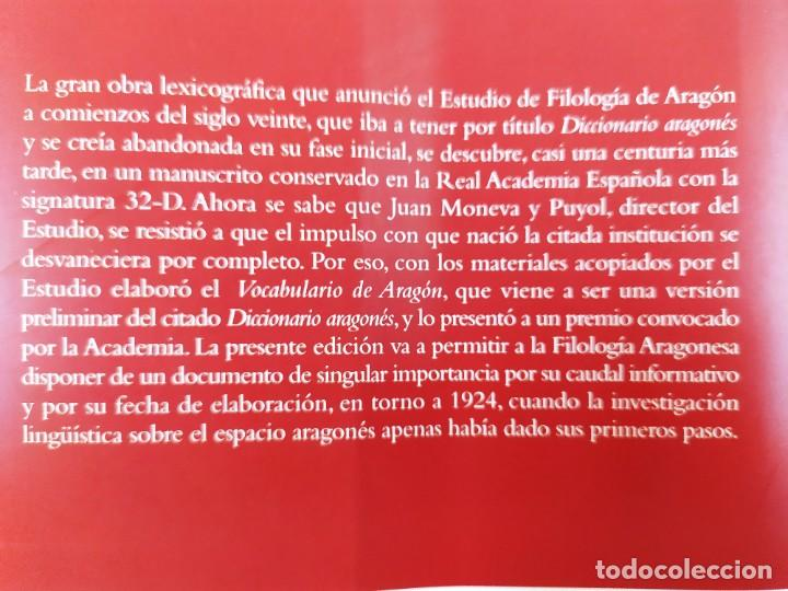 Libros de segunda mano: VOCABULARIO DE ARAGÓN / JUAN MONEVA Y PUYOL / 2004. XORDICA EDITORIAL - Foto 6 - 269295318