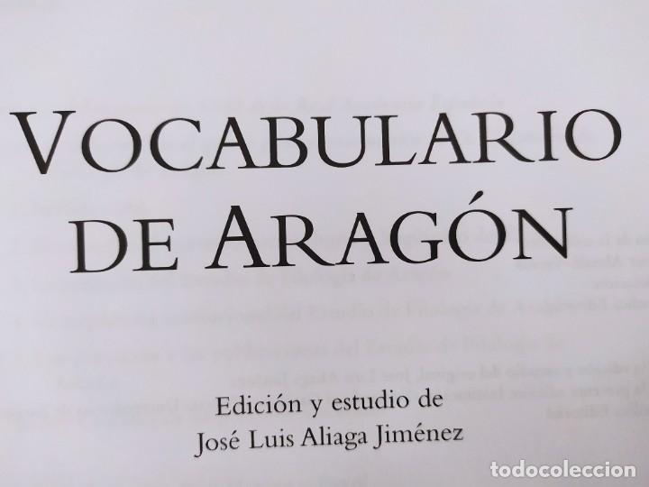Libros de segunda mano: VOCABULARIO DE ARAGÓN / JUAN MONEVA Y PUYOL / 2004. XORDICA EDITORIAL - Foto 2 - 269295318