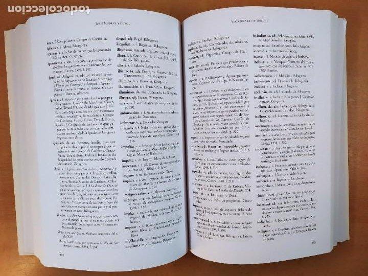 Libros de segunda mano: VOCABULARIO DE ARAGÓN / JUAN MONEVA Y PUYOL / 2004. XORDICA EDITORIAL - Foto 4 - 269295318
