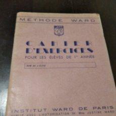 Libros de segunda mano: METHODE WARD CAHIER D, EXERCICIES PARÍS. Lote 270184513