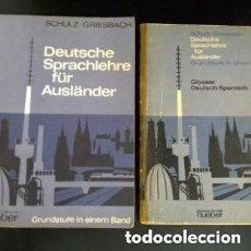 Libros de segunda mano: 1968 DEUTSCHE SPRACHLEHRE FUR AUSLANDER LIDRO DE ALEMAN+DICCIONARIO ALEMAN/ESPAÑOL. Lote 276242913