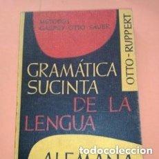 Libros de segunda mano: 1969 GRAMATICA SUCINTA DE LA LENGUA ALEMANA, HERDER-GROOS, METODO GASOEY OTTO SAVER, OTTO RUPPERT,. Lote 276243753