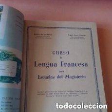 Libros de segunda mano: 1960 1°EDIC. CURSO DE LENGUA FRANCESA PARA ESCUELAS DE MAGISTERIO, ILUSTRACIONES.MAPAS DESPLEGABLES. Lote 276244393