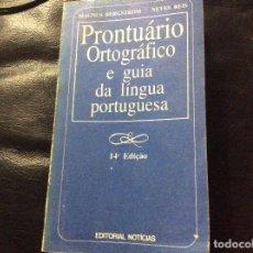 Libros de segunda mano: PRONTUARIO ORTOGRÁFICO E GUIA DA LINGUA PORTUGESA MAGNUS BERGSTROM. Lote 277267658