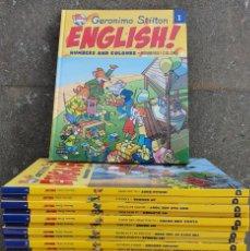 Libros de segunda mano: GERONIMO STILTON *** CURSO DE INGLES **** 30 LIBROS + 30 CUADERNOS DE EJERCICIOS + 30 CD`S. Lote 282263973