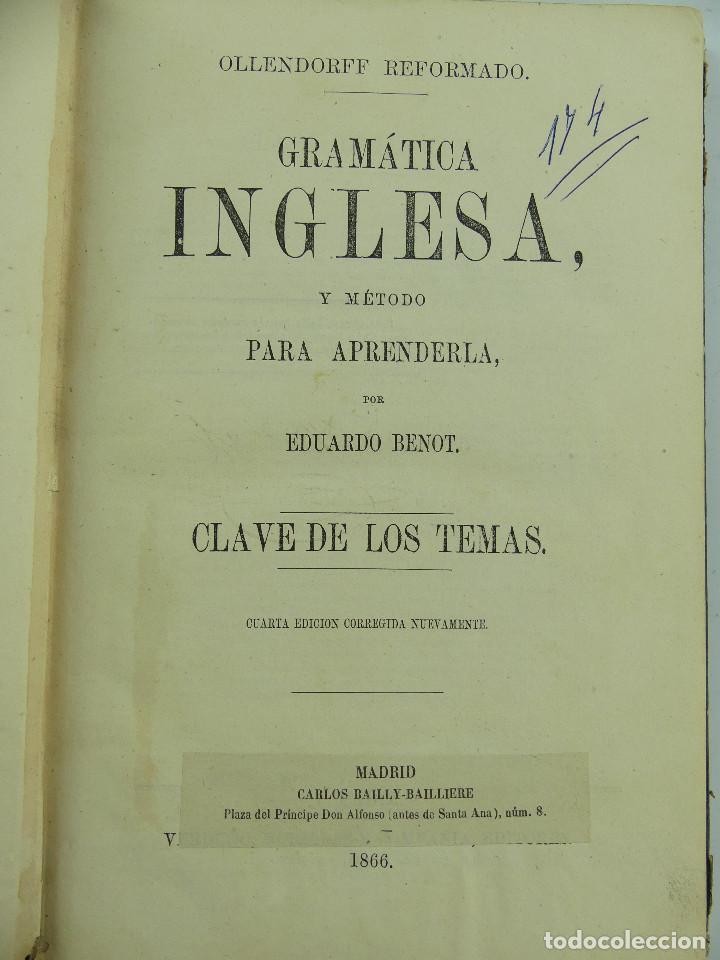 GRAMATICA INGLESA Y METODO PARA APRENDERLA POR EDUARDO BENOR AÑO 1866 (Libros de Segunda Mano - Cursos de Idiomas)