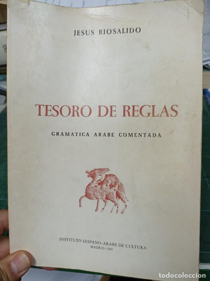 JESÚS RIOSALIDO. TESORO DE REGLAS. GRAMÁTICA ÁRABE COMENTADA (Libros de Segunda Mano - Cursos de Idiomas)