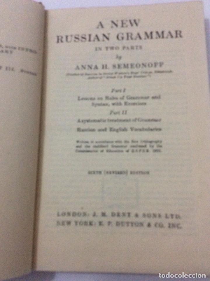 Libros de segunda mano: A New Russian grammar in two parts, ANNA H. SEMEONOFF, 1945 - Foto 2 - 286763248