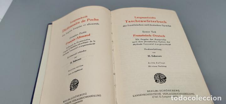 Libros de segunda mano: 1926 Langenscheidt DICTIONNAIRE DE POCHE DAS LANGUES FRANÇAISE ET ALLEMANDE * ALLEMAND – FRANÇAIS. - Foto 2 - 288144118