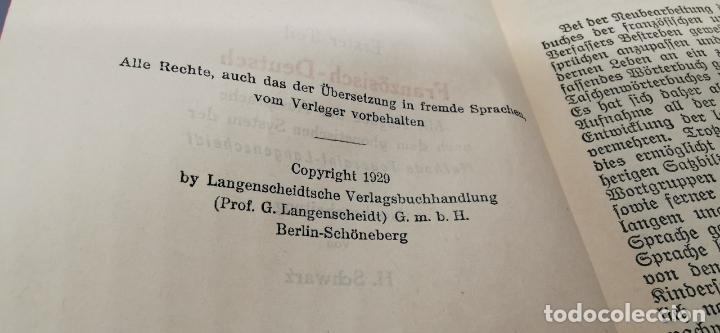 Libros de segunda mano: 1926 Langenscheidt DICTIONNAIRE DE POCHE DAS LANGUES FRANÇAISE ET ALLEMANDE * ALLEMAND – FRANÇAIS. - Foto 3 - 288144118