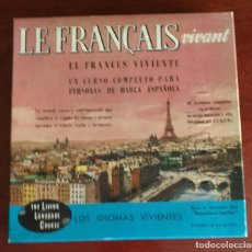 Libros de segunda mano: LE FRANÇAIS VIVANT - CURSO PERSONAS HABLA HISPANA - CAJA CON 4 LP'S + 2 LIBROS. Lote 289496643