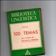 Libros de segunda mano: BIBLIOTECA LINGUISTICA. 100 TEMAS PARA TRADUCIR DEL ITALIANO AL ESPAÑOL. TOMAS TRALLERO. RAUTER ED.. Lote 293798113