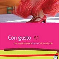 Libros de segunda mano: CON GUSTO A1. LEHR- UND ARBEITSBUCH. MIT 2 AUDIO-CDS. Lote 293946703