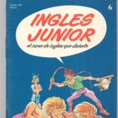 Libros de segunda mano: INGLÉS JUNIOR. FASCÍCULO Nº 6. CONTIENE ENCAARTE CENTRAL. SALVAT BBC. 1978.(P/C42). Lote 294044428