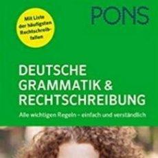 Libros de segunda mano: PONS. DEUTSCHE GRAMMATIK UND RECHTSCHREIBUNG. Lote 294084433