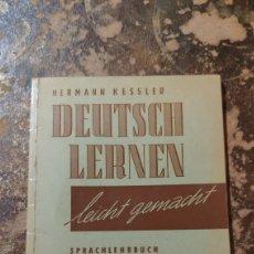 Libros de segunda mano: DEUTSCH LERNEN, LEICHT GEMACHT, 2. TEIL (HERMANN KESSLER). Lote 294085943