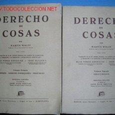 Libros de segunda mano: DERECHO DE COSAS.TRATADO DE DERECHO CIVIL. 2 TOMOS.1951. Lote 1138637