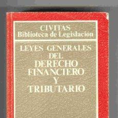 Libros de segunda mano: LEYES GENERALES DEL DERECHO FINANCIERO Y TRIBUTARIO - EDIT. CIVITAS 1995. Lote 24703232