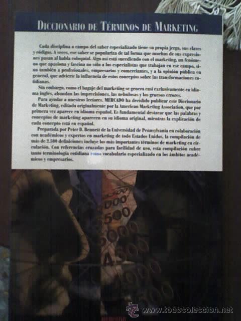 DICCIONARIO DE TERMINOS DE MARKETING - DE LA AMERICAN MARKETING ASSOCIATION (Libros de Segunda Mano - Ciencias, Manuales y Oficios - Derecho, Economía y Comercio)
