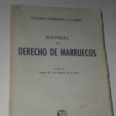 Libros de segunda mano: MANUAL DE DERECHO DE MARRUECOS.. Lote 19707504