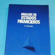 Libros de segunda mano: ANALISIS DE ESTADOS FINANCIEROS. L.A. BERNSTEIN. EDIT. DEUSTO. 1991. Lote 25329353