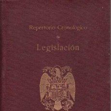 Libros de segunda mano: REPERTORIO CRONOLÓGICO DE LEGISLACIÓN. EDICIÓN ESPECIAL. ARANZADI.1937. Lote 27070434