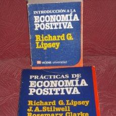 Libros de segunda mano: INTRODUCCIÓN Y PRÁCTICAS DE ECONOMÍA POSITIVA POR RICHARD G. LIPSEY DE VICENS VIVES, BARCELONA 1986. Lote 25290409