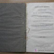 Libros de segunda mano: INSTRUCCIÓN GENERAL PARA EL RÉGIMEN DE LA TESORERÍA GENERAL, CONTADURÍAS DE VALORES Y DISTRIBUCIÓN... Lote 16799798