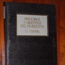 Libros de segunda mano: PRINCIPIOS Y OBJETIVOS DEL MÁRKETING POR J.L. CÓRDOBA Y J.M. TORRES DE ED. DEUSTO EN BILBAO 1990. Lote 18270271