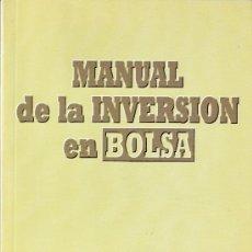 Libros de segunda mano: MANUAL DE LA INVERSION EN BOLSA. JOSÉ RAMÓN CANO RICO.INVERSOR EDICIONES S.L.1994. Lote 27322888